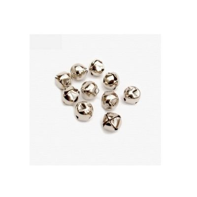 Craft Factory Silver Jingle Bells 10mm Pack of 100