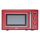 Belling FMR2080S-RED Retro Microwave with 800W Power and 8 Functions in Red