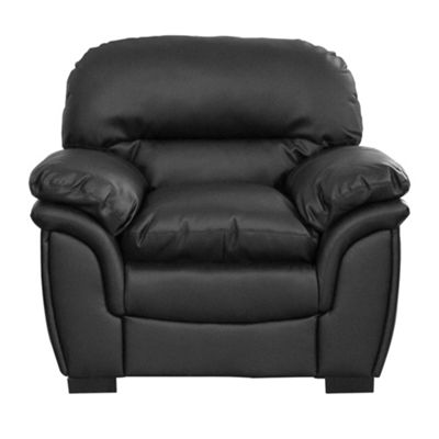 Sofa Collection Oklahoma Leather 1 Seat Sofa - Black