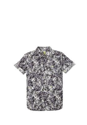 F&F Tiger and Camo Print Short Sleeve Shirt Multi 10-11 years