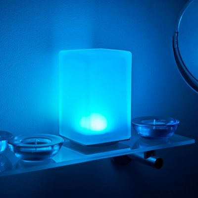 Auraglow Rechargeable Cordless Wireless Colour Changing & White Light LED Table Lamp – COLUMN