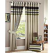 Curtina Harvard Green Eyelet Lined Curtains 90x90 inches (229x229cm)
