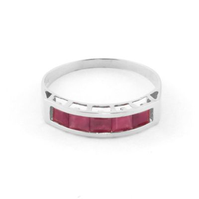 QP Jewellers 2.50ct Ruby Prestige Ring in 14K White Gold - Size B