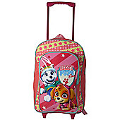 Paw Patrol 'Skye' Girls Trolley Backpack School Travel Roller Wheeled Bag