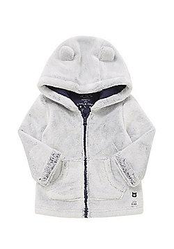 F&F Teddy Bear Faux Fur Hooded Jacket - Grey