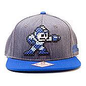 Capcom Mega Man Buster & Logo Snapback Baseball Cap One Size