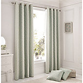 Serene Ebony Duck Egg Eyelet Curtains - Duck egg