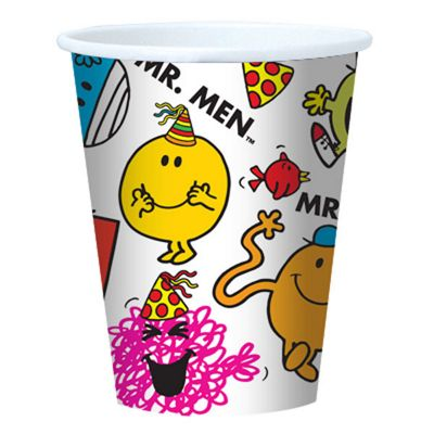 Mr Men Party Paper Cups - 8 Pack