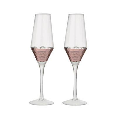 Artland Set of 2 Coppertino Flute Glasses