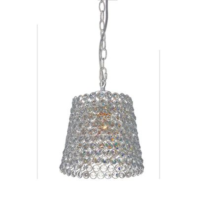 Kudo Crystal Lamp Shade Non-Electric Polished Chrome/Crystal
