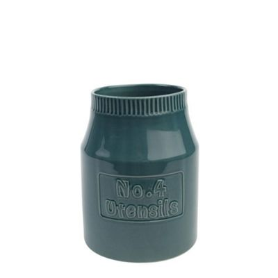 T&G Woodware Colour By Numbers Storage Jar No.4 Utensils in Teal 18203