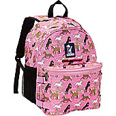 Children's Backpack & Lunch Bag- Pink Horses