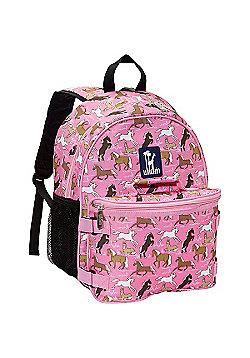 Children's Backpack & Lunch Bag- Pink Horses