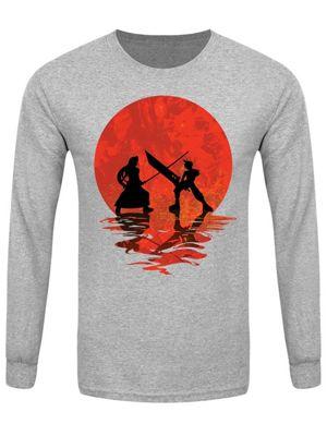 Cloud vs Sephiroth Men's Long-sleeve T-Shirt, Grey