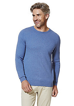 F&F Marl Crew Neck Jumper - Blue