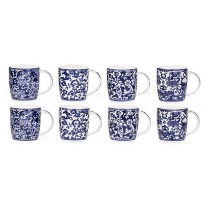 8 Piece Twilight Blue Mug Set