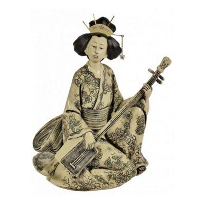Shamisen Playing Geisha