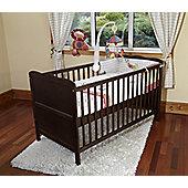 Poppy's Playground Isabella Cot Bed/Junior Bed/Pocket Sprung Mattress-Walnut