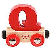 Bigjigs Rail Rail Name Letter Q (Red)