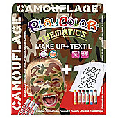 Playcolor Basic Make Up Pocket 5g + Textil One 10g Face Paint Stick (Camouflage Set)