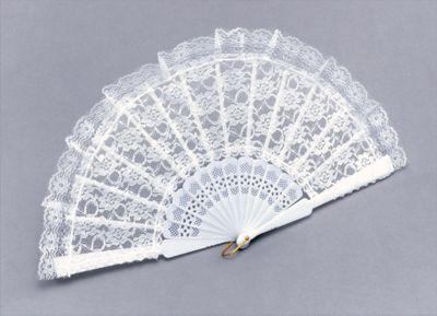 Fan. White Lace