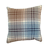 McAlister Angus Cushion Cover - Duck Egg Blue Wool Look Tartan Check 43cm