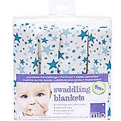 Bambino Mio Swaddling Blanket Blue Star (2 Pack)