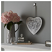 Fox & Ivy White Lace Metal Heart Plaque
