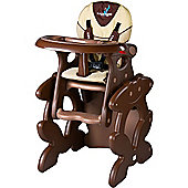 Caretero Primus 2 in 1 Highchair (Brown)