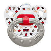 NUK Happy Days Size 1 Silicone Soother (Stars, 2 Pack)
