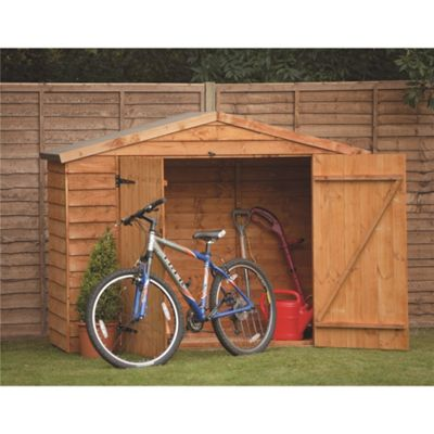 buy 7 x 3 rock select overlap bike shed double doors 7ft. Black Bedroom Furniture Sets. Home Design Ideas