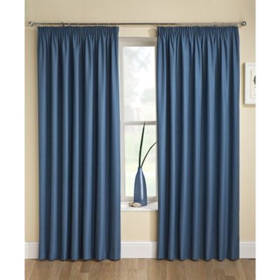Enhanced Living Tranquility Wedgewood Blue Pencil Pleat Curtains - 46x54 Inches (117x137cm)