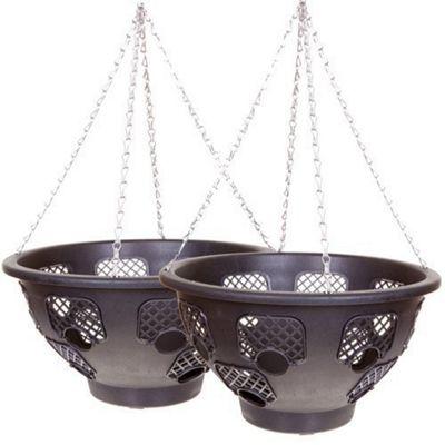 Set of 2 Easy Fill Hanging Baskets (36cm)