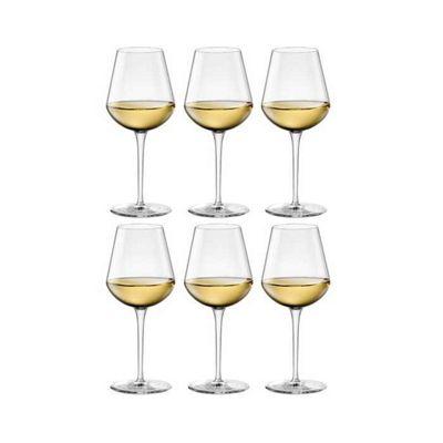 Bormioli Rocco Inalto Medium Wine Glasses - Gift box Of 6 Glasses - 430ml