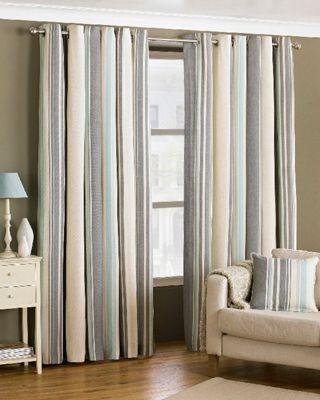 Broadway Duck Egg Eyelet Curtains, 168x183cm