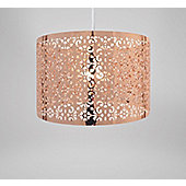 Country Club Easy Fit 29cm Moroccan Ceiling Light Shade, Copper