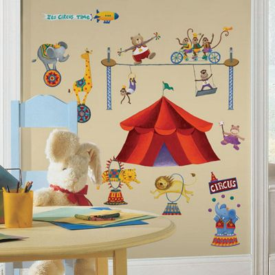Kids Wall Stickers, Children's Wall Stickers - Big Top Circus