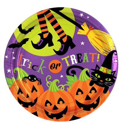 Witches Crew Round Plates 23cm - 8 Pack
