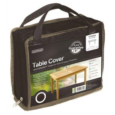 Gardman 6 Seater Rectangular Table Cover- Black