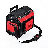 Homcom Rolling Mobile Tool Organiser Bag Storage Electrician Tote Trolley Case w/ Wheels