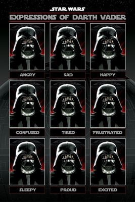Star Wars Expressions of Darth Vader Poster 61x91.5cm