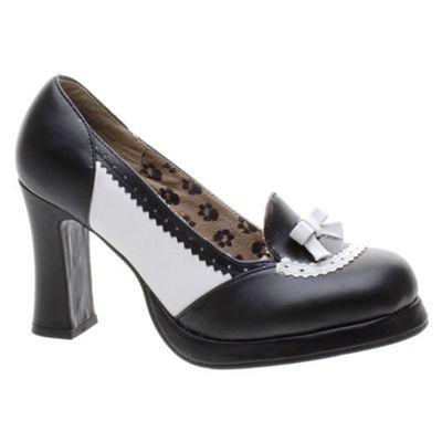 TUK Spectator Loafer Black/White Girls Shoe