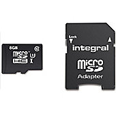 Integral UltimaPro 8GB microSDHC/XC Card Class 10 UHS-I U1 (90 MB/s) + Adapter