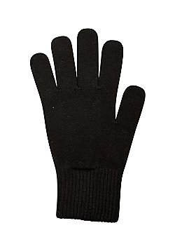 Mountain Warehouse Womens Durable Grace Knitted Warm Gloves with Perfect Fit - Black