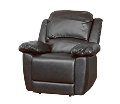Sofa Collection Lucerne Recliner Armchair - 1 Seat - Black