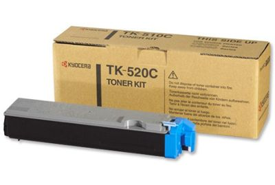 Kyocera Mita TK-520C Cyan (Yield 4000 Pages) Toner Cartridge for FS-C5025N/5015N Printers