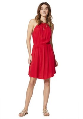F&F Keyhole Front Halterneck Dress Red 18
