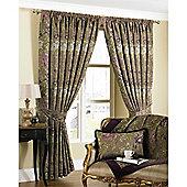 Riva Home Berkshire Pencil Pleat Curtains - Multi