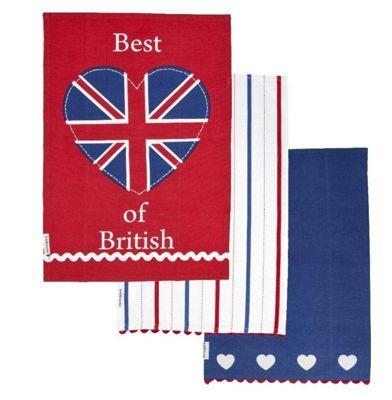 Sabichi Best of British Tea Towels (Set of 3)