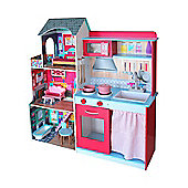 Leomark 2 in 1 Big Wooden Role Play Kitchen and Dolls House